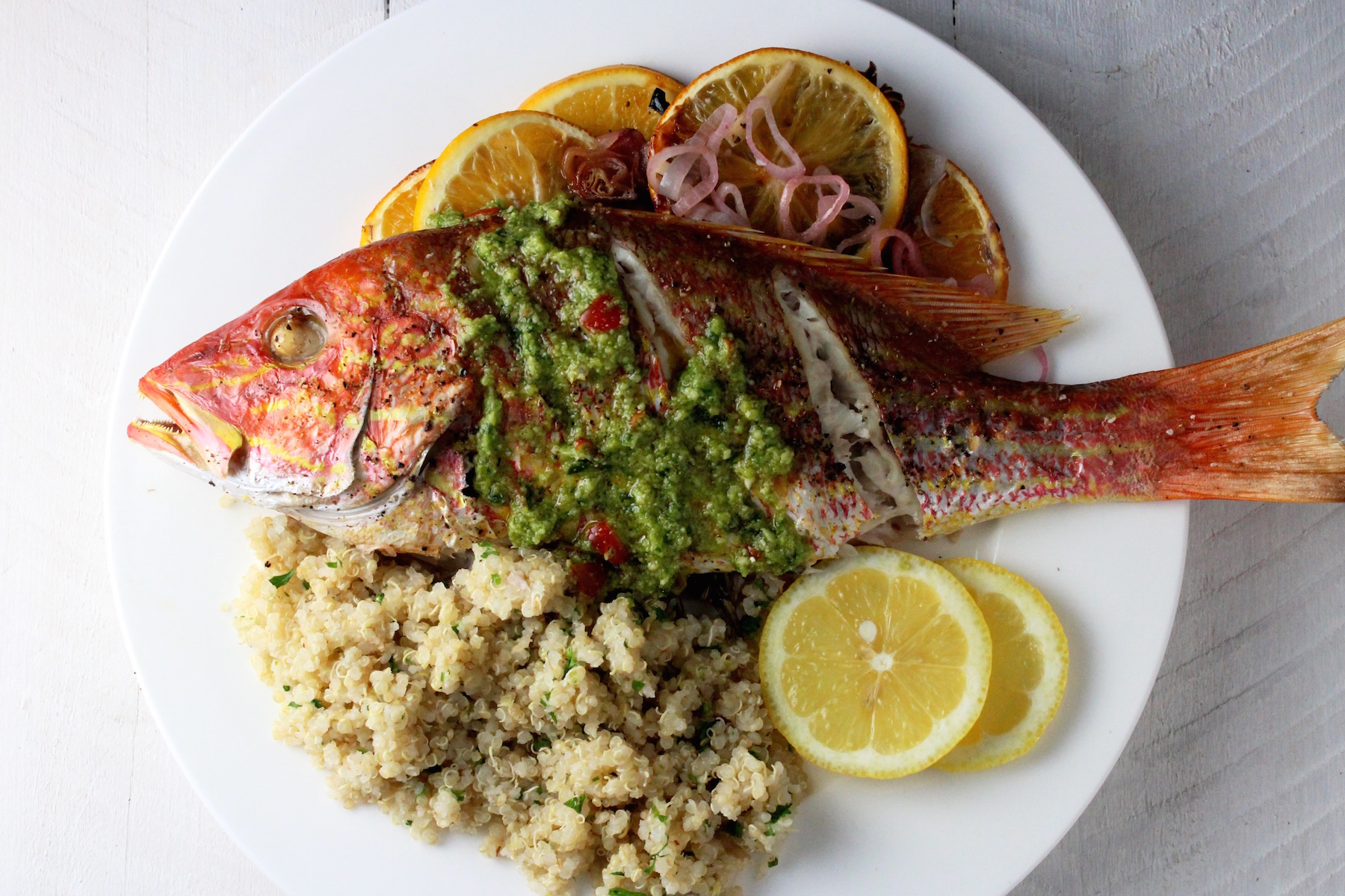 Roasted Snapper
