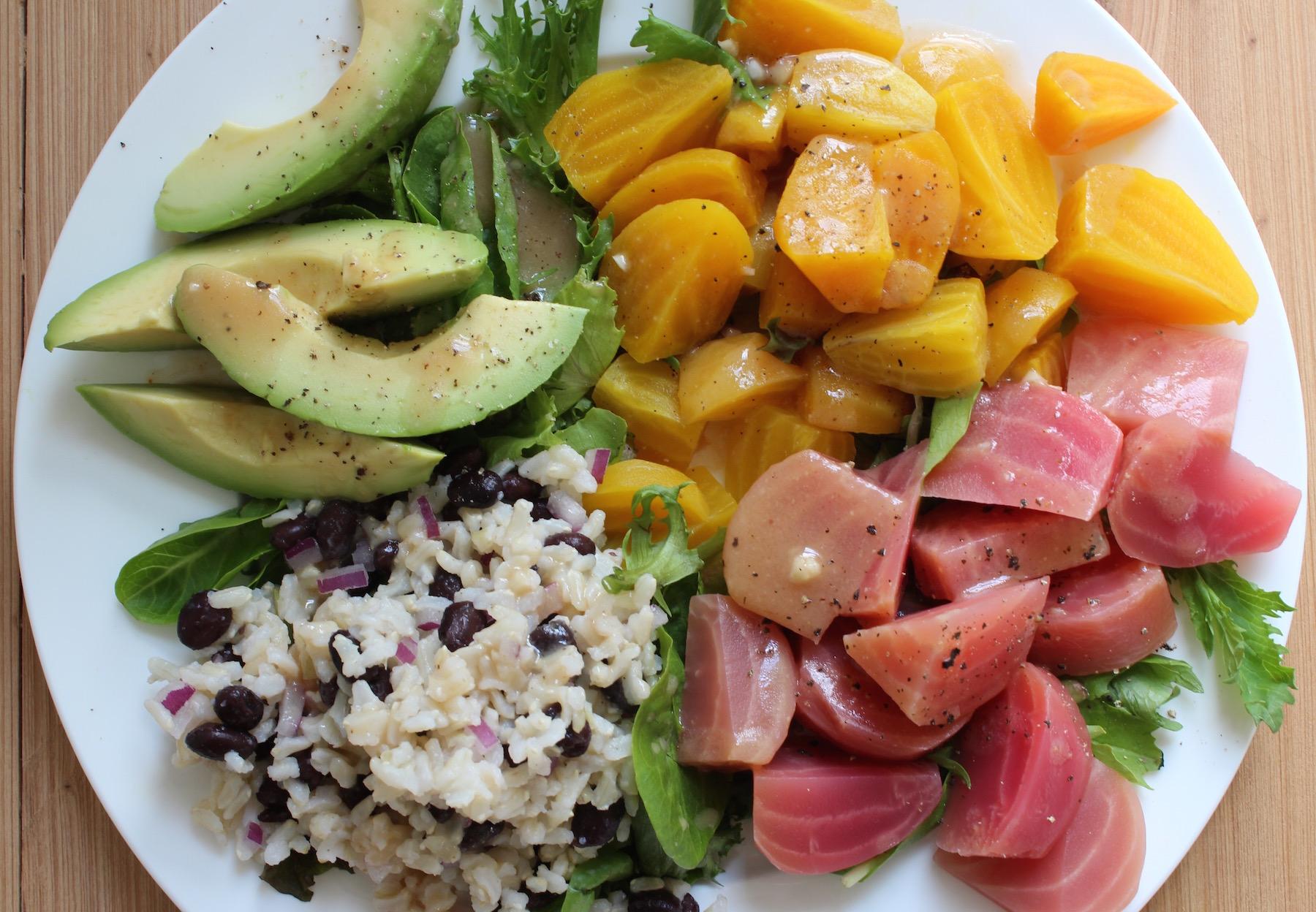 beet salad with miso