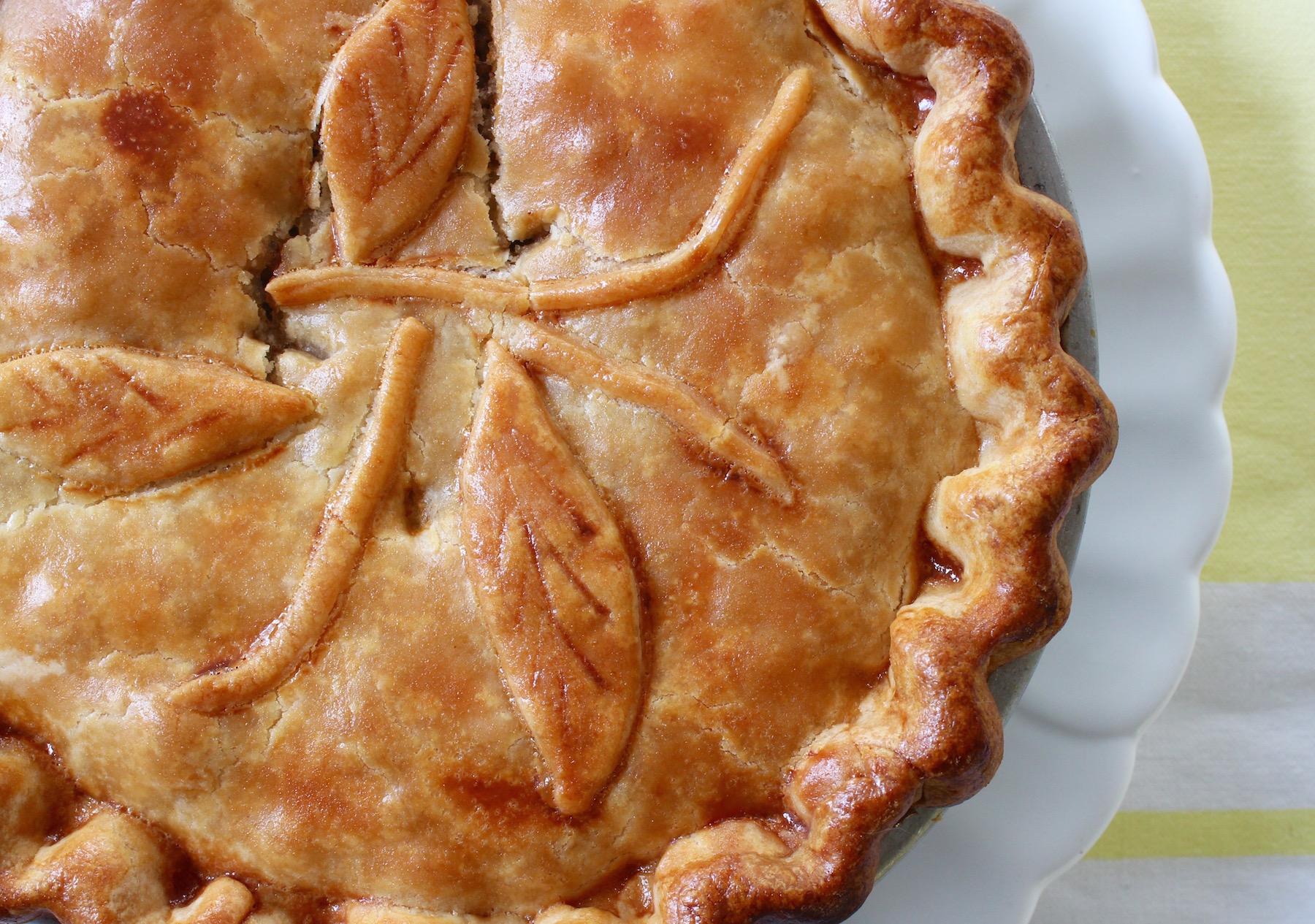 french meat pie on platter
