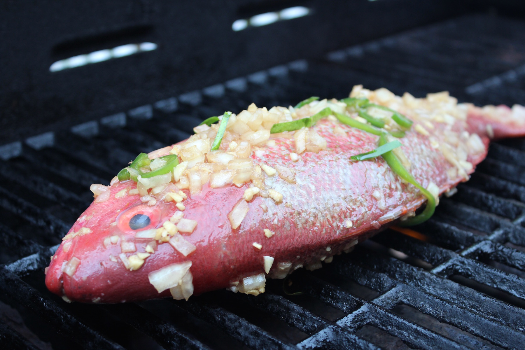 ikan baker fish on grill