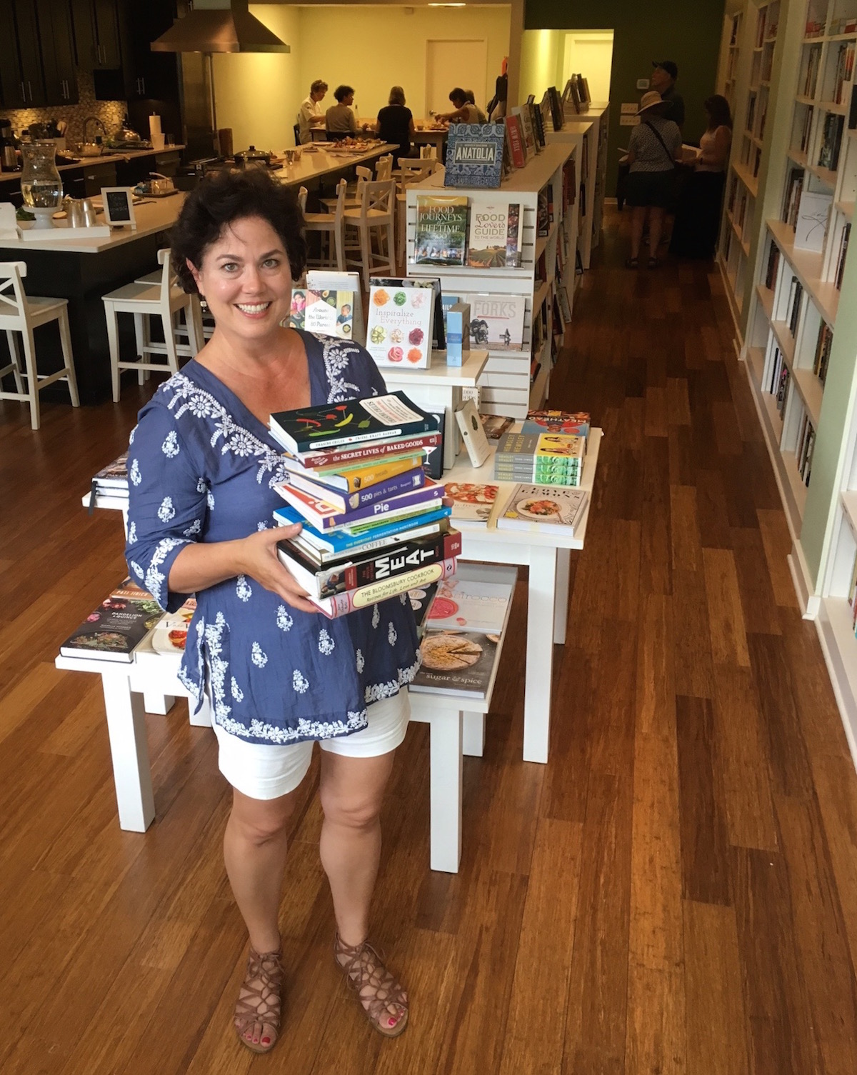 nicole coudal with books