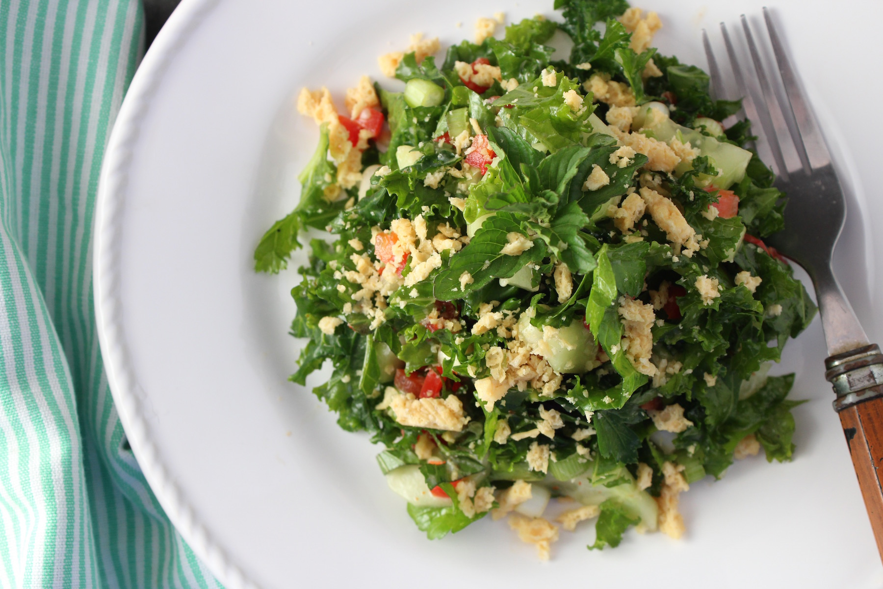 Kale Salad with Sweet Chili Dressing