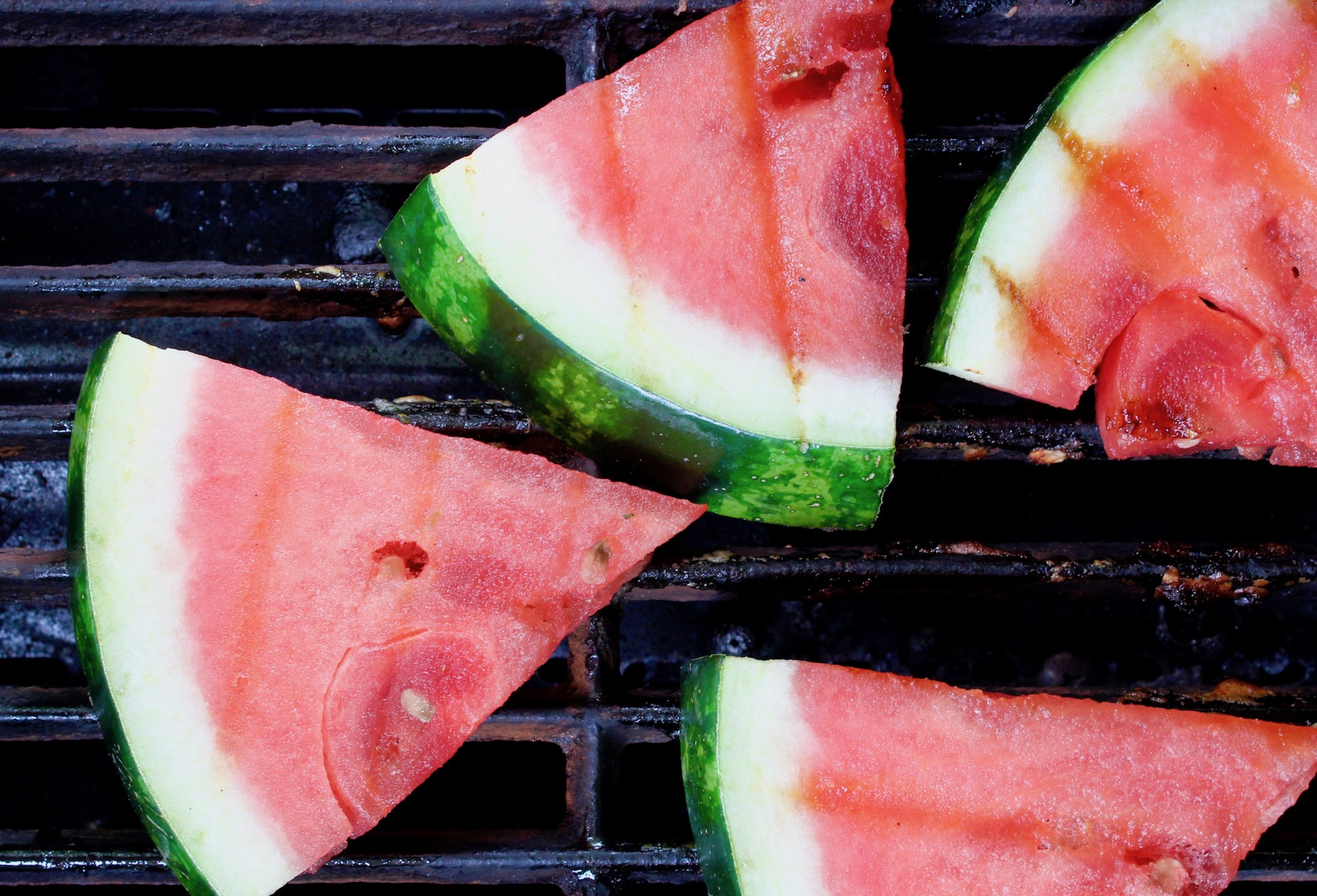 watermelon on grill