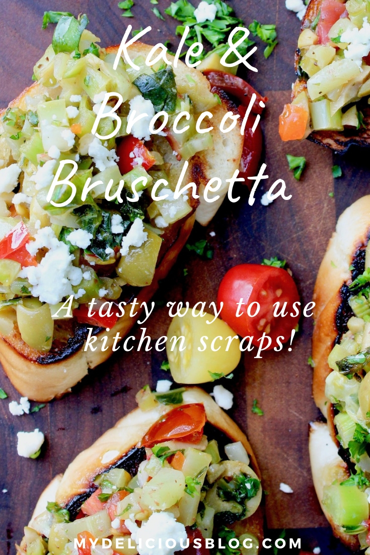 kale broccoli bruschetta kitchen scraps